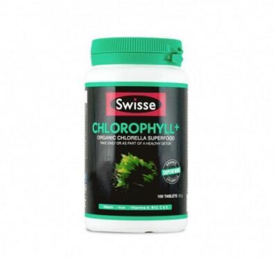 澳洲swisseChlorophyll叶绿素片清体排毒美容养颜100粒