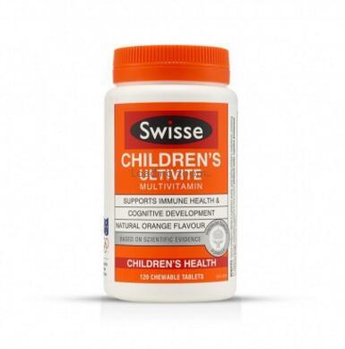 swisse儿童复合维生素矿物质咀嚼片补充多种维生素120粒