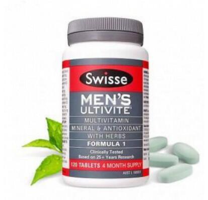 Swisse男士复合维生素120粒多植物精华提升活力澳洲进口保健品CW
