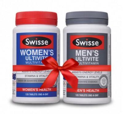 2瓶装|Swisse 男女复合维生素组合 120粒 补充营养,增强活力