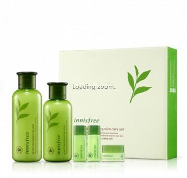 Innisfree悦诗风吟绿茶水乳套装礼盒 平衡保湿 打造水感透润肌肤