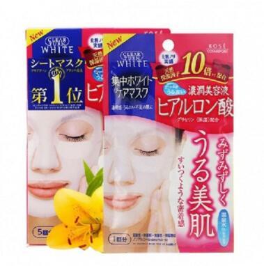 KOSE 高丝 浓润玻尿酸高保湿面膜5片 粉色 强效补水 安全呵护