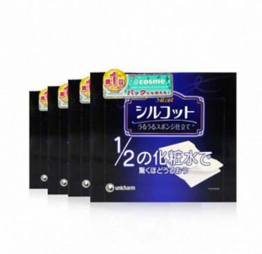 4件|Unicharm尤妮佳1/2超吸收省水化妆卸妆棉40枚*4 质地柔韧顺滑