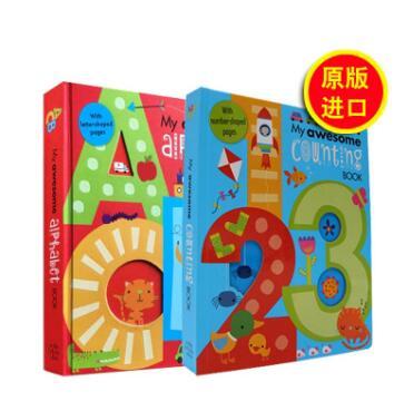 小云朵童书 英语启蒙神奇立体字母书&数字书系列 鼓励宝宝的探索和触摸