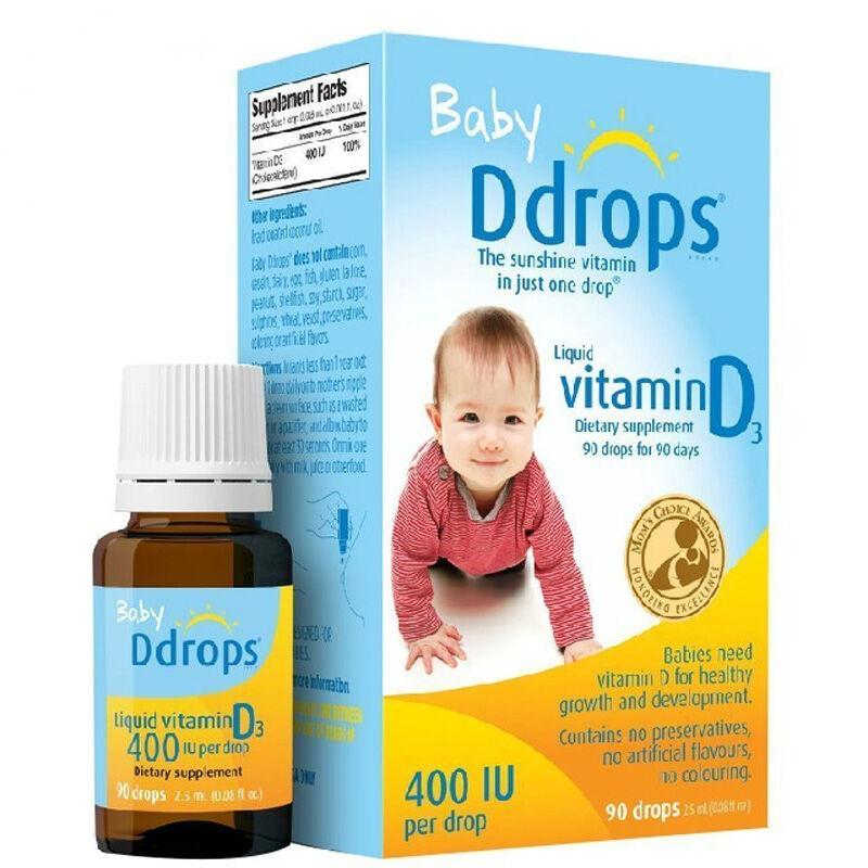 香港直邮 | Ddrops 婴儿纯维生素D3滴剂 90滴 2.5ml