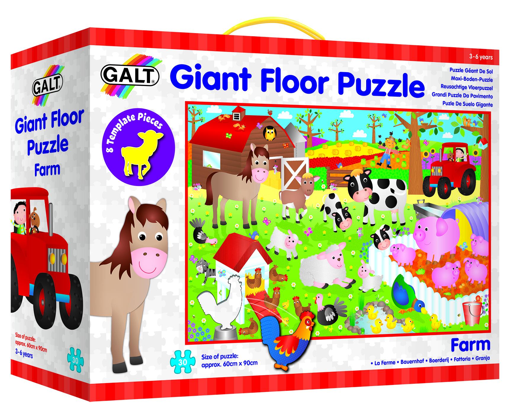 英国Galt 大型地板拼图 寓教于乐 动物认知 训练宝宝思维能力