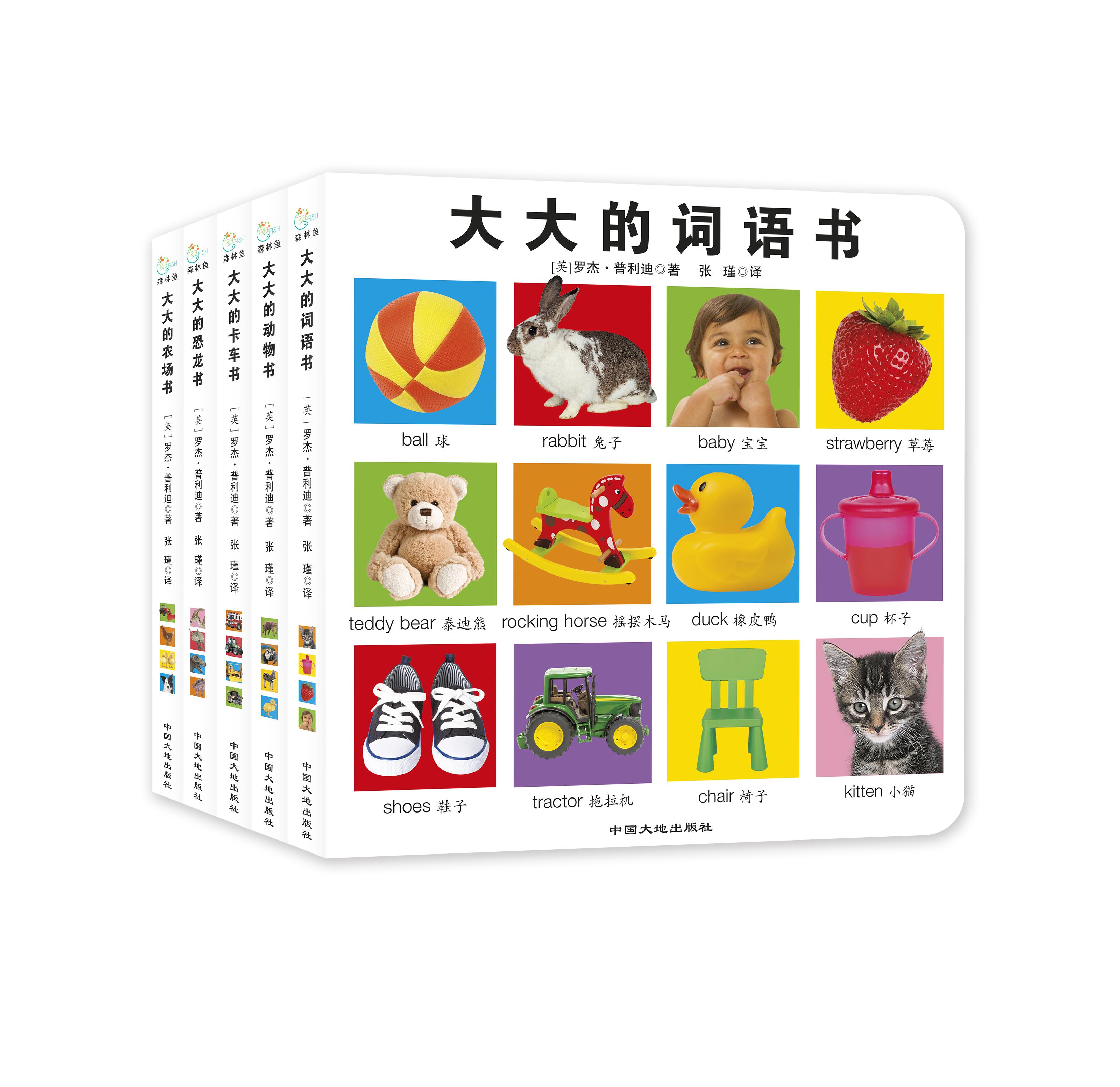 大大的启蒙书(全5册)(大大的词语书/大大的动物书/大大的恐龙书/大大的农场书/大大的卡车书)