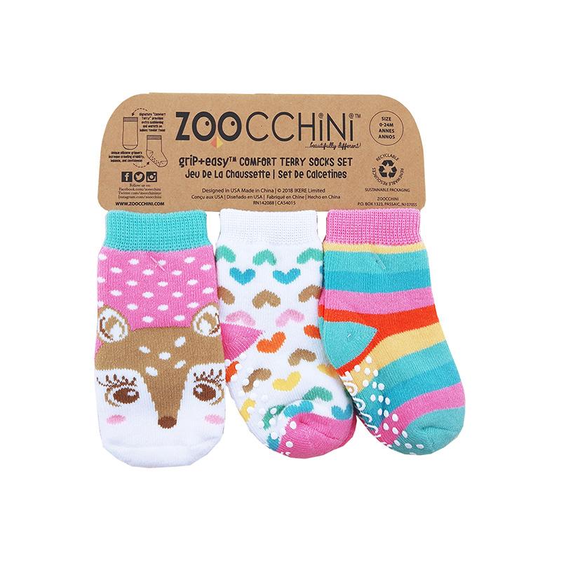 ZOOCCHiNi 学步袜(3双装) 增大摩擦 帮助宝宝走的更稳