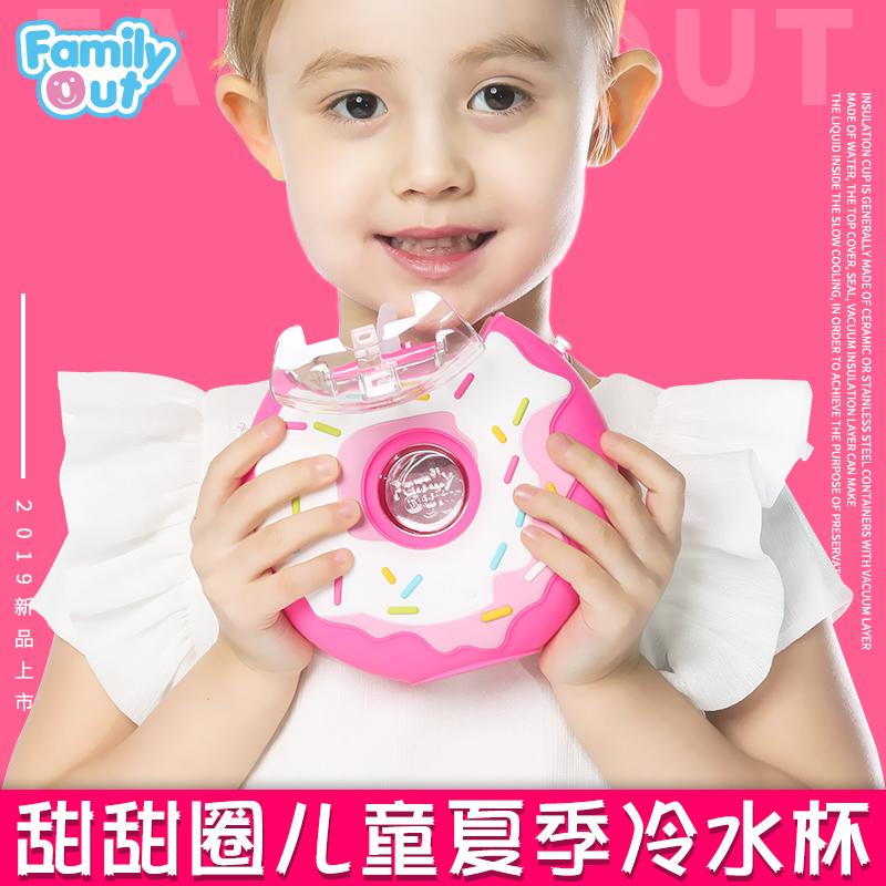 凡米粒甜甜圈儿童水杯吸管(巧克力色、粉色、蓝色)