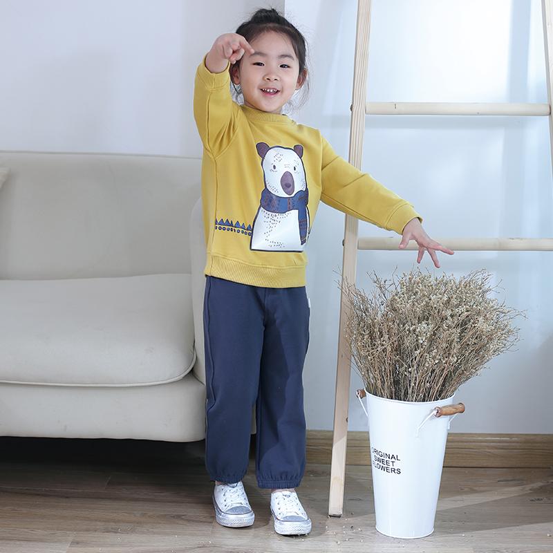 龙之涵儿童纯色休闲卫裤1条【春秋薄款】