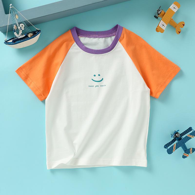 龙之涵儿童双色插肩T恤/儿童鳄鱼T恤(80码-110码)